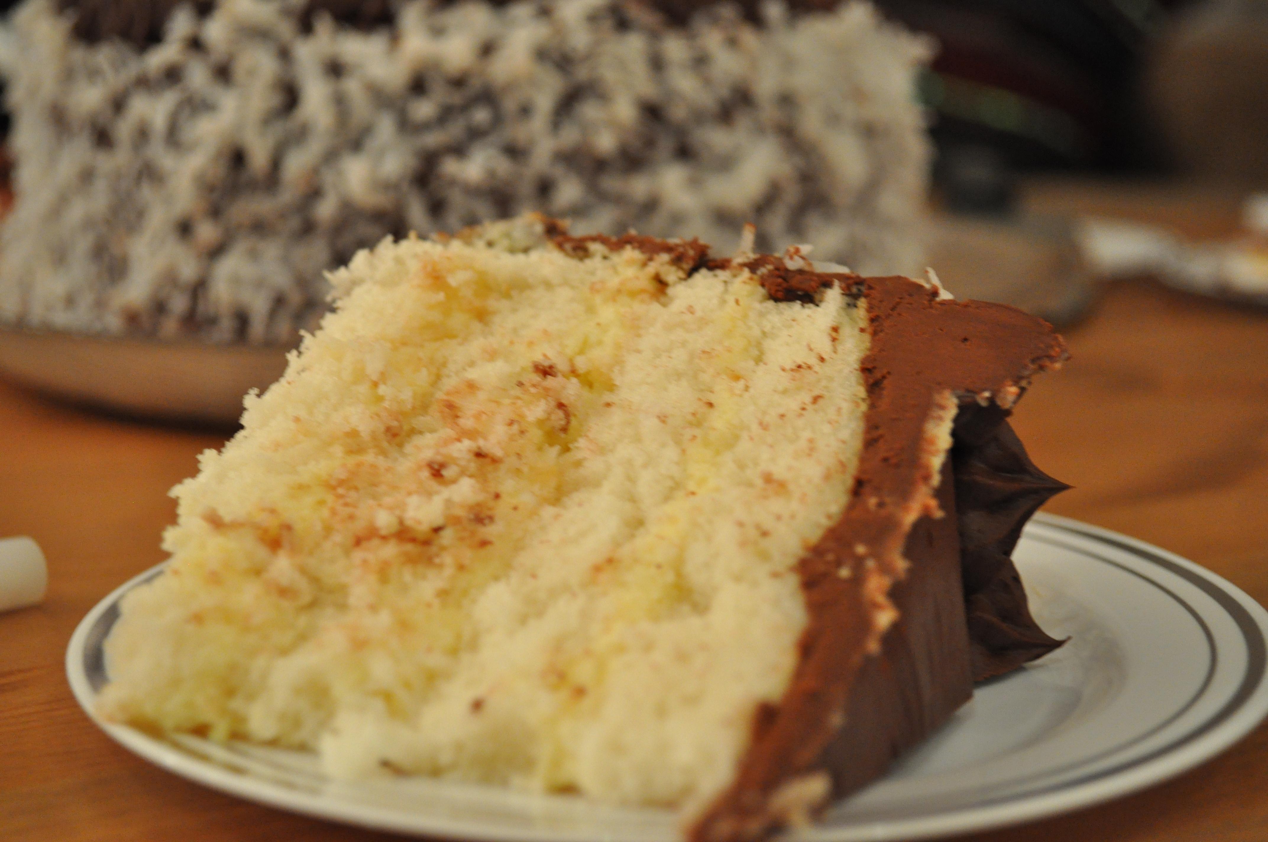 Moist Chocolate Cake With Custard Filling