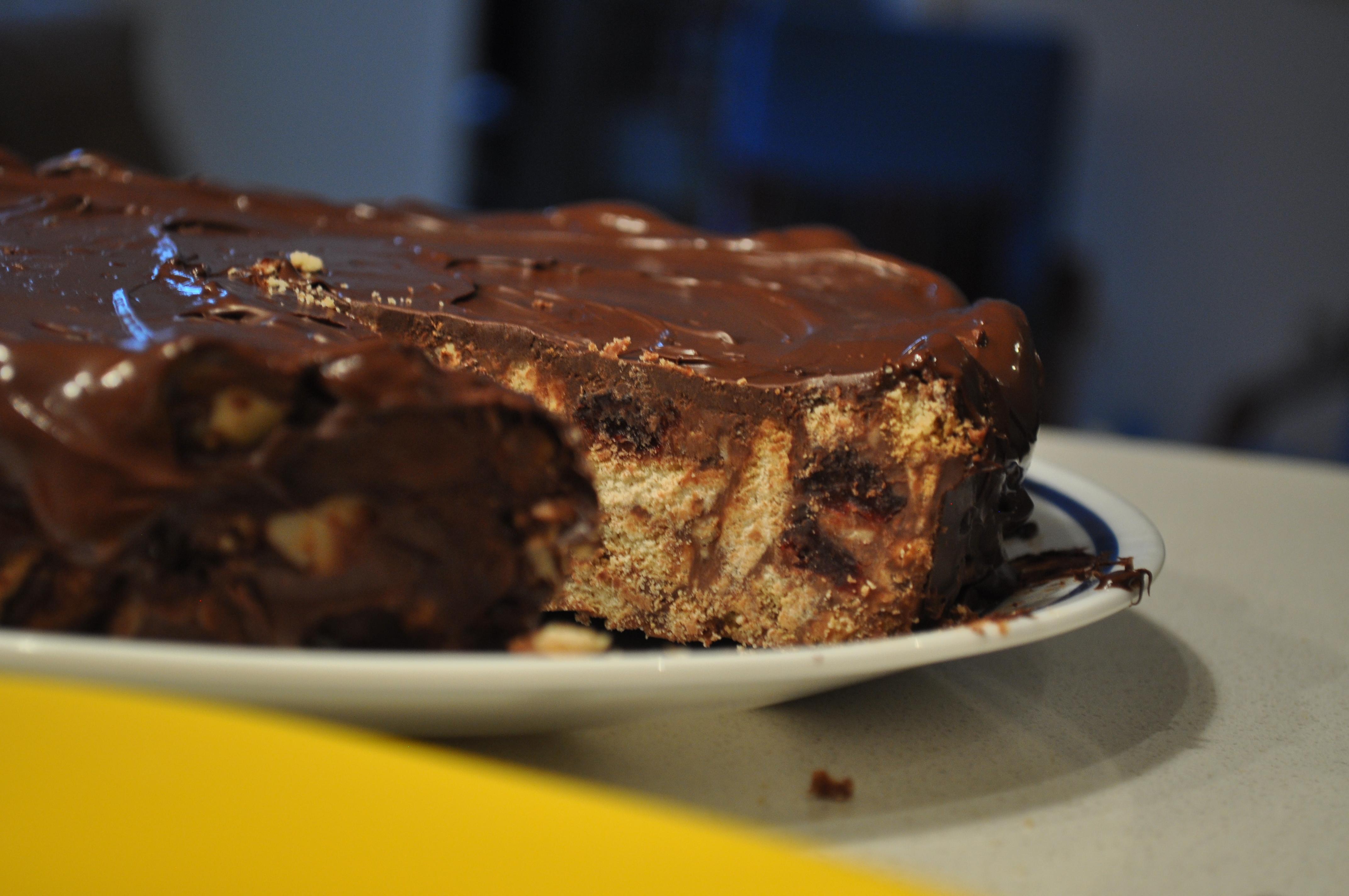 Wedding Chocolate Biscuit Cake